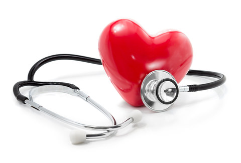 A heart and stethoscope