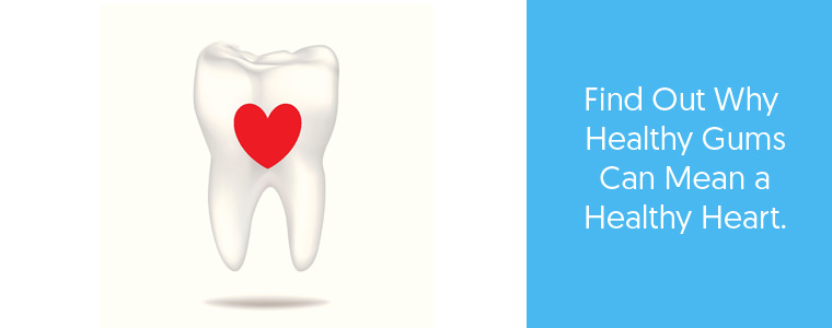 Feature image about healthy gums and a healthy heart