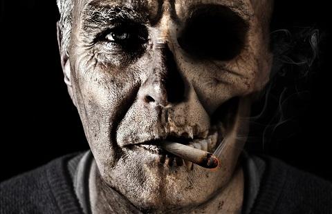 A man who smokes