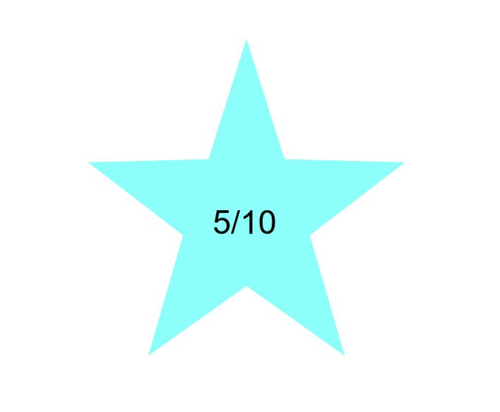 Dental star rating of 5/10