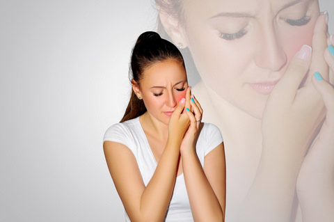 A lady in pain with fever
