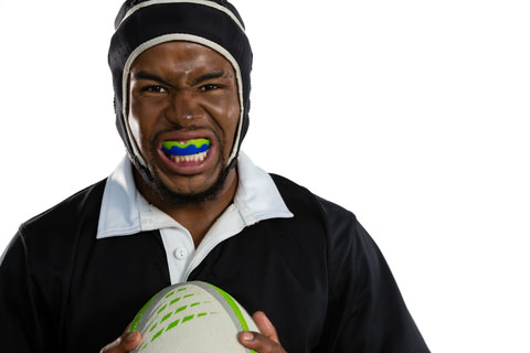 A man with a mouthguard