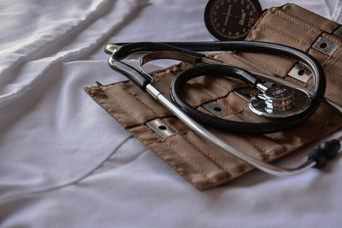 A doctors stethoscope