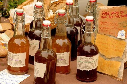 Apple cider Vinegar at a market