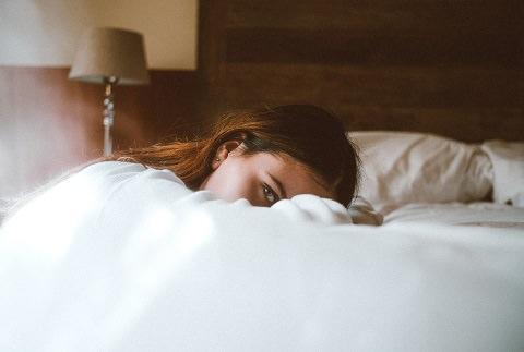 A lady sleepy