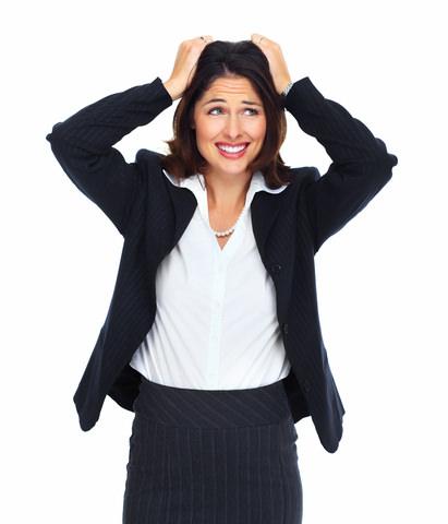 A lady feeling stressed