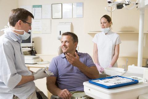 A man visiting his dentist