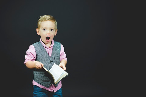 A boy who is shocked!