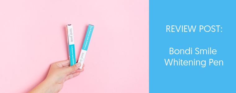 Bondi Smile teeth whitening pen review feature image