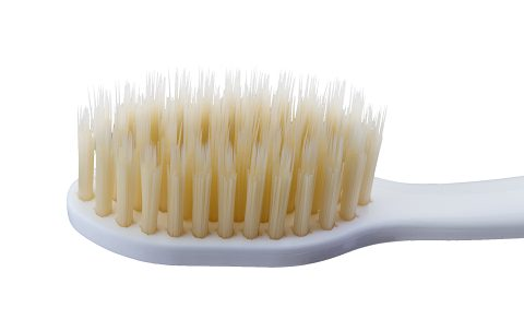 A Close up of a Mouthwatchers Toothbrush