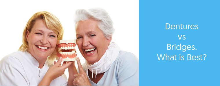 Denture Vs. Bridges What are the differences? Dental Aware Feature image