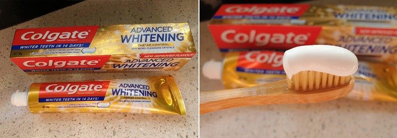 Colgate advanced whiteninig toothpaste