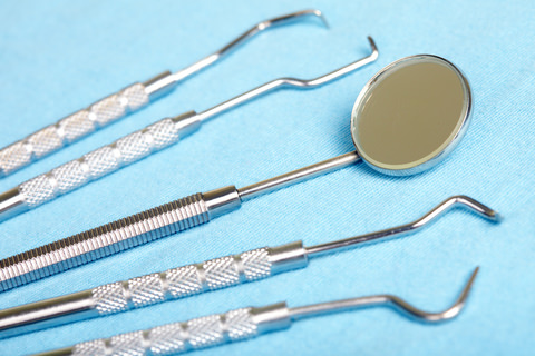Standard Dental instruments which are used by your dentist.