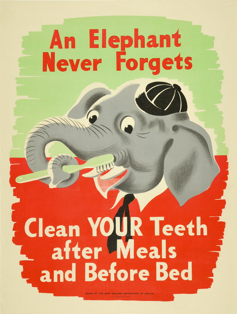 A illustration to remember to brush your teeth after meals and before bed