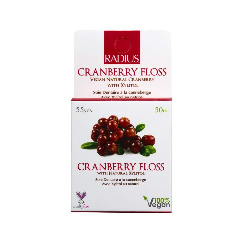 RADIUS – Vegan Xylitol Soft Floss Xylitol (Cranberry 55 Yrd) Dental aware