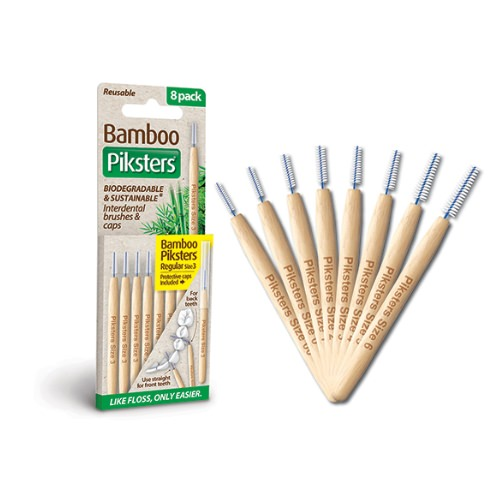 Bamboo Interdental Brushes by Piksters