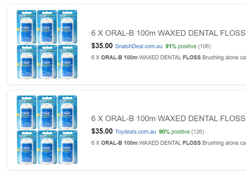 6 x pack of oral-b essential floss