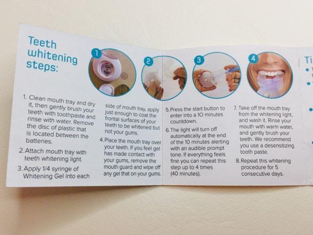 Bondi Smile Instruction steps
