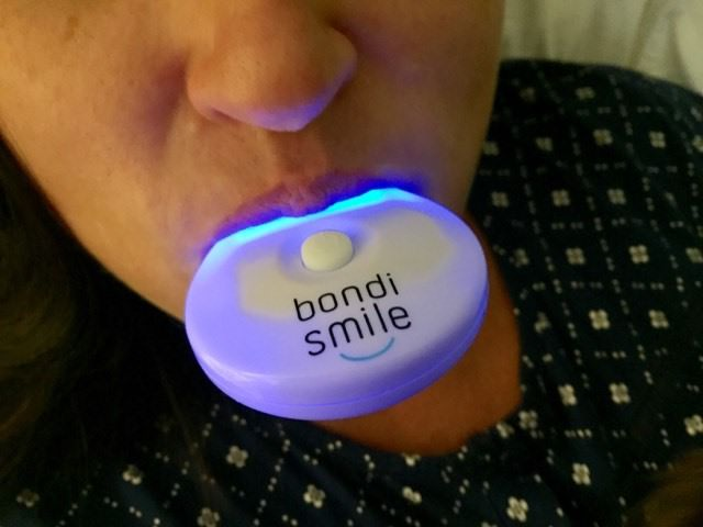 Using the bondi smile whiteninig kit