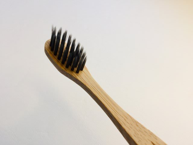 The charcoal infused bristles on the colgate bamboo charcoal toothbrush