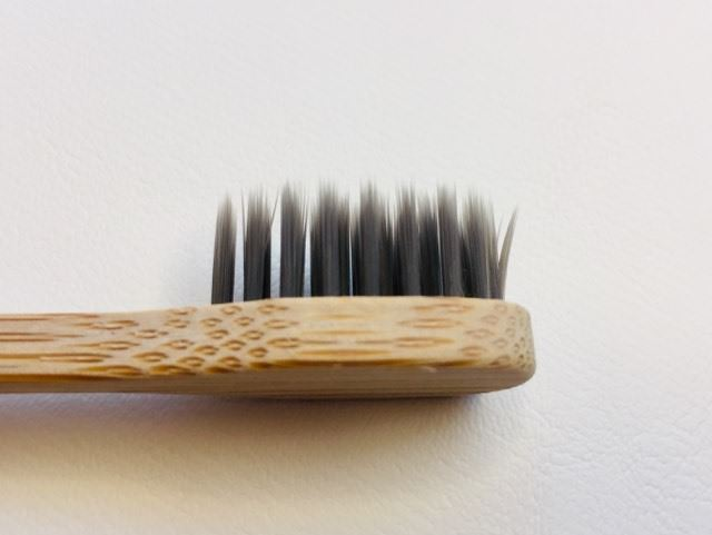fine flossing tip bristles on the colgate bamboo charcoal toothbrush