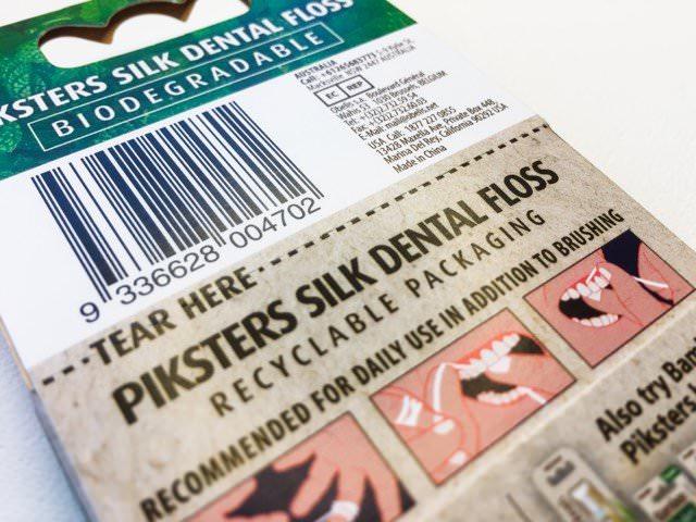 Pikster Natural Silk Dental Floss packaging