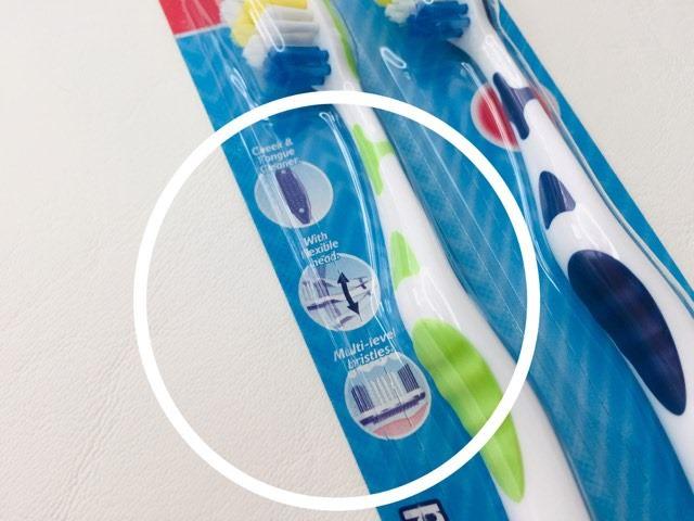 3 features ofthe Aldi Dentitex Toothbrush