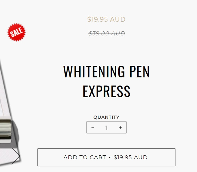 Pearly whites Express whitening pen sale