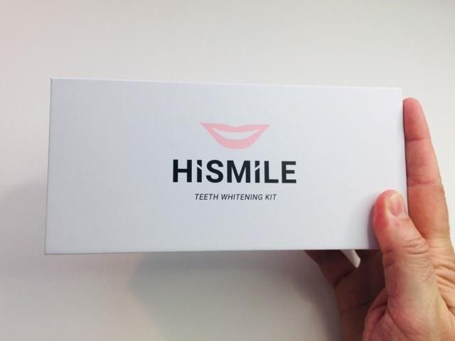 Holding the HiSmile Whiten Kit