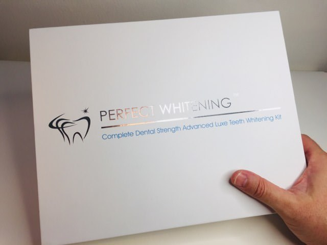Holding the Perfect Whitening Kit