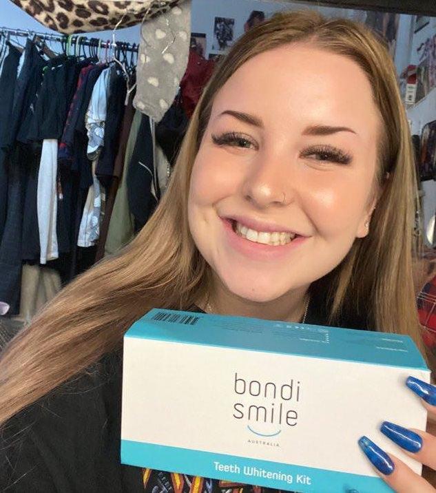 Alanna after she had tested the Bondi Smile Teeth Whitening Kit
