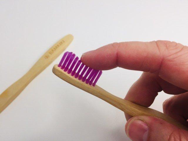 Bamkiki bristles on their toothbrush