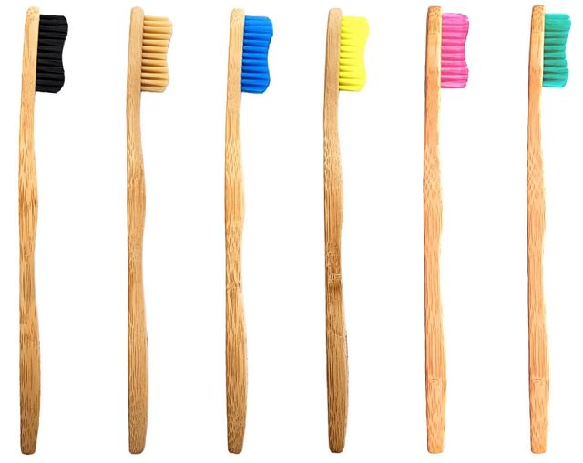 screenshot of the super funk pack of 6 Bamkiki bamboo toothbrushes