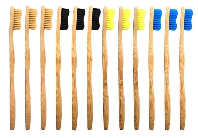 12 pack of Bamboo bamkiki toothbrushes called Kiki Dream
