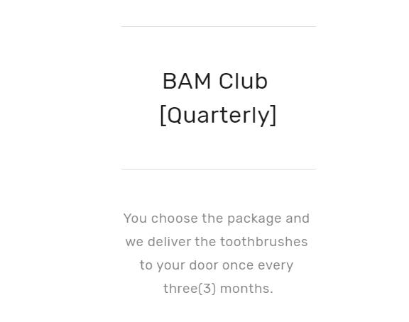 Quarterly subscription option by bamkiki