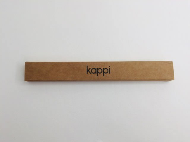 cardboard packaging of the kappi toothbrush