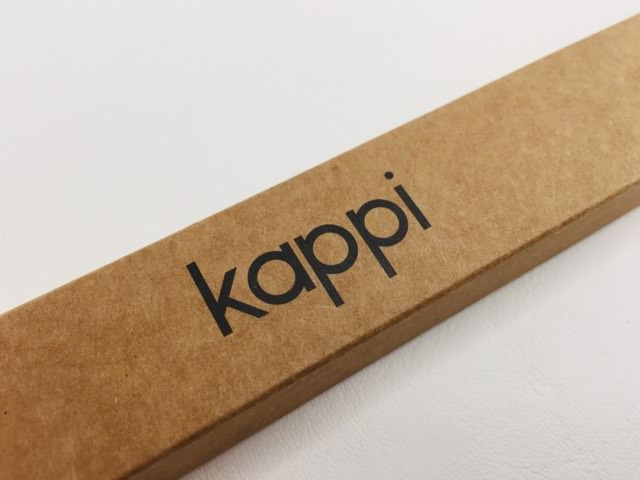 The Kappi logo on the packaging of the bamboo toothbrush
