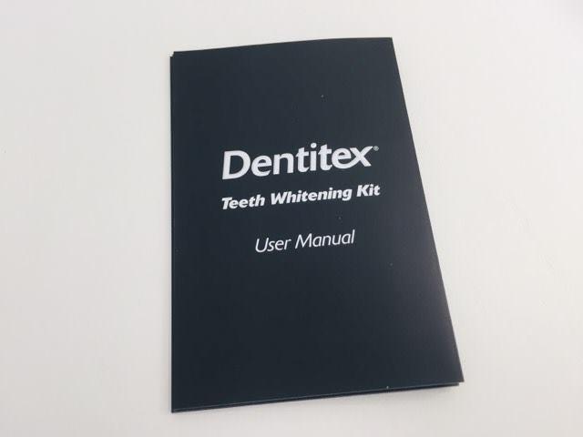 The Dentitex Teeth Whitening kit user manual