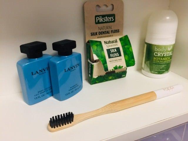 Kappi bamboo toothbrush in my bathroom cupboard
