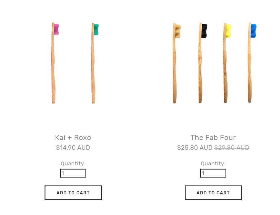 The kai and Roxo pack as well as the The Fab Four Pack pricing