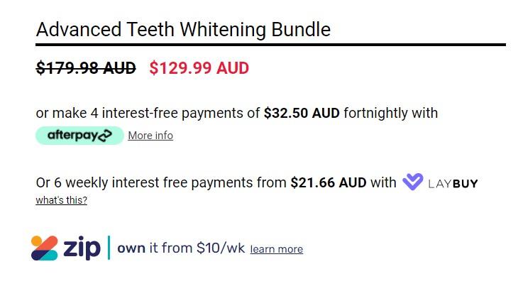 Advanced Teeth Whitening bundle by Smile Bright White