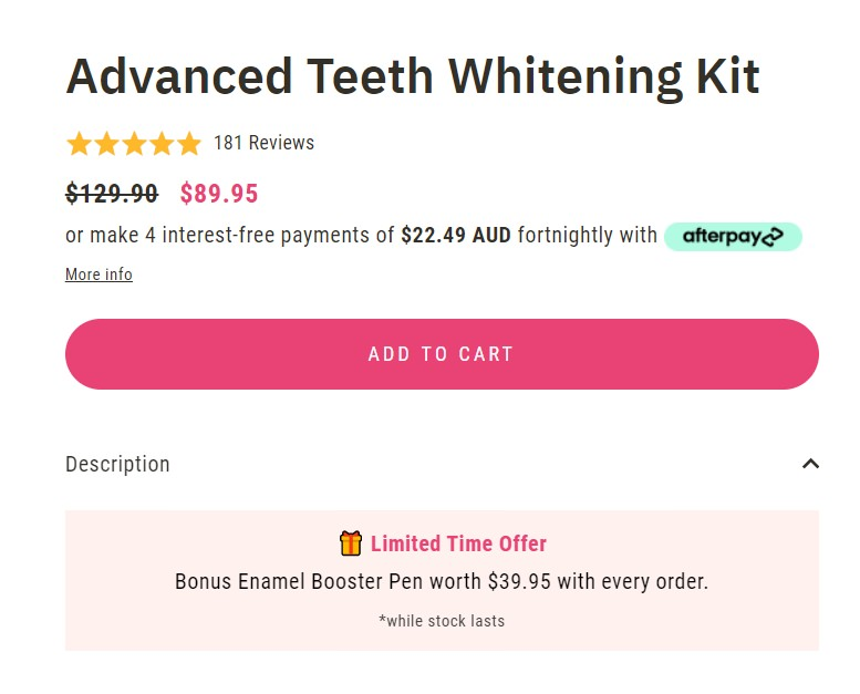 Advance Teeth Whitening Kit screenshot