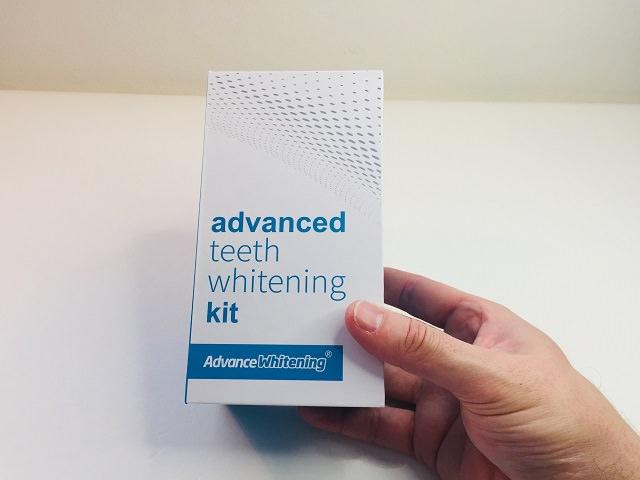 Holding the Advance Whitening Kit