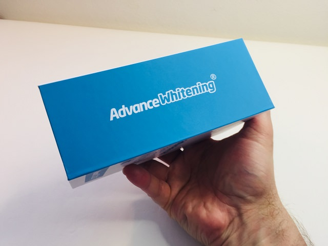 The Advance Whitening Kit packaging from the back