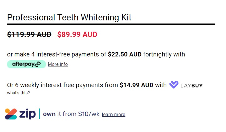 professional Teeth Whitening Kit by Smile Bright White screenschot