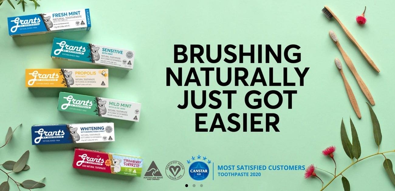 6 Natural Toothpastes by Grants screenshot