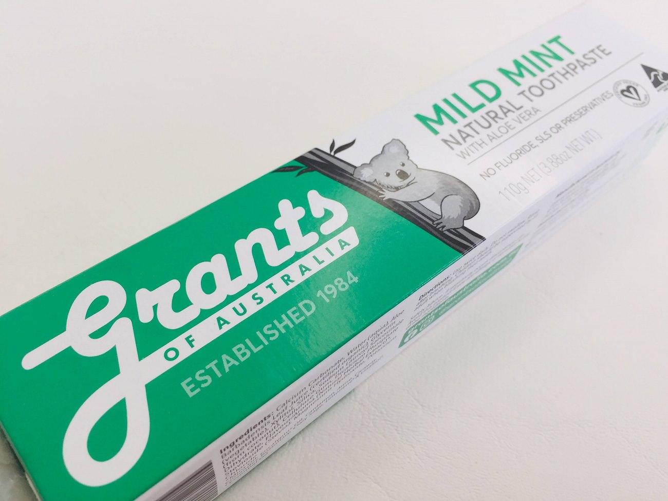 Grants of Australia Mild Mint Toothpaste with Aloe Vera