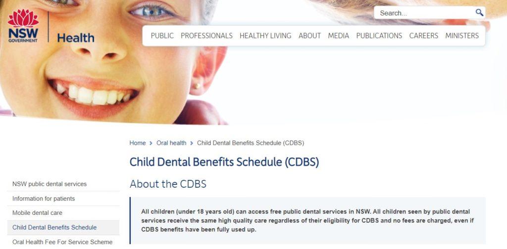 Child Dental Benefits Schedule or CDBS for short