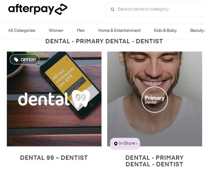 Pay dental fees with Afterpay