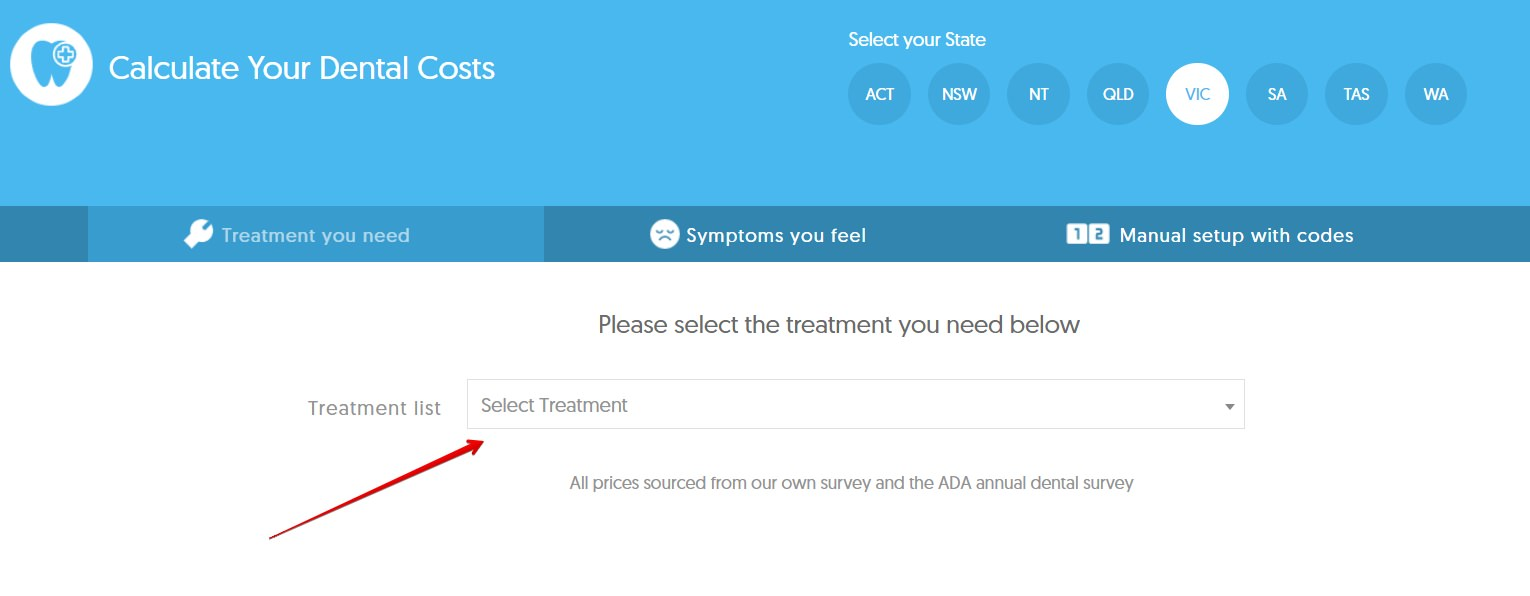 selecting treatment for dental cost calculator